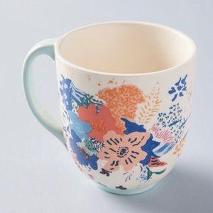 Anthropologie Floral Mug